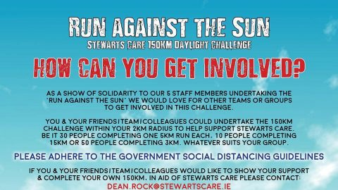 Run against the Sun – Stewarts Care 150km Daylight Challenge