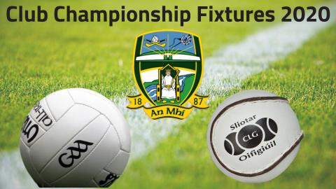 Club Championship Fixtures & League Draws