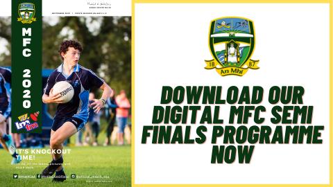 Digital programme for MFC semi finals