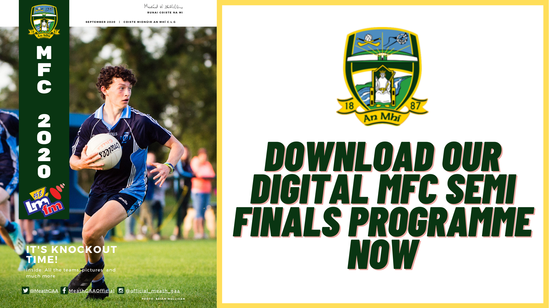 Digital programme for MFC semi finals