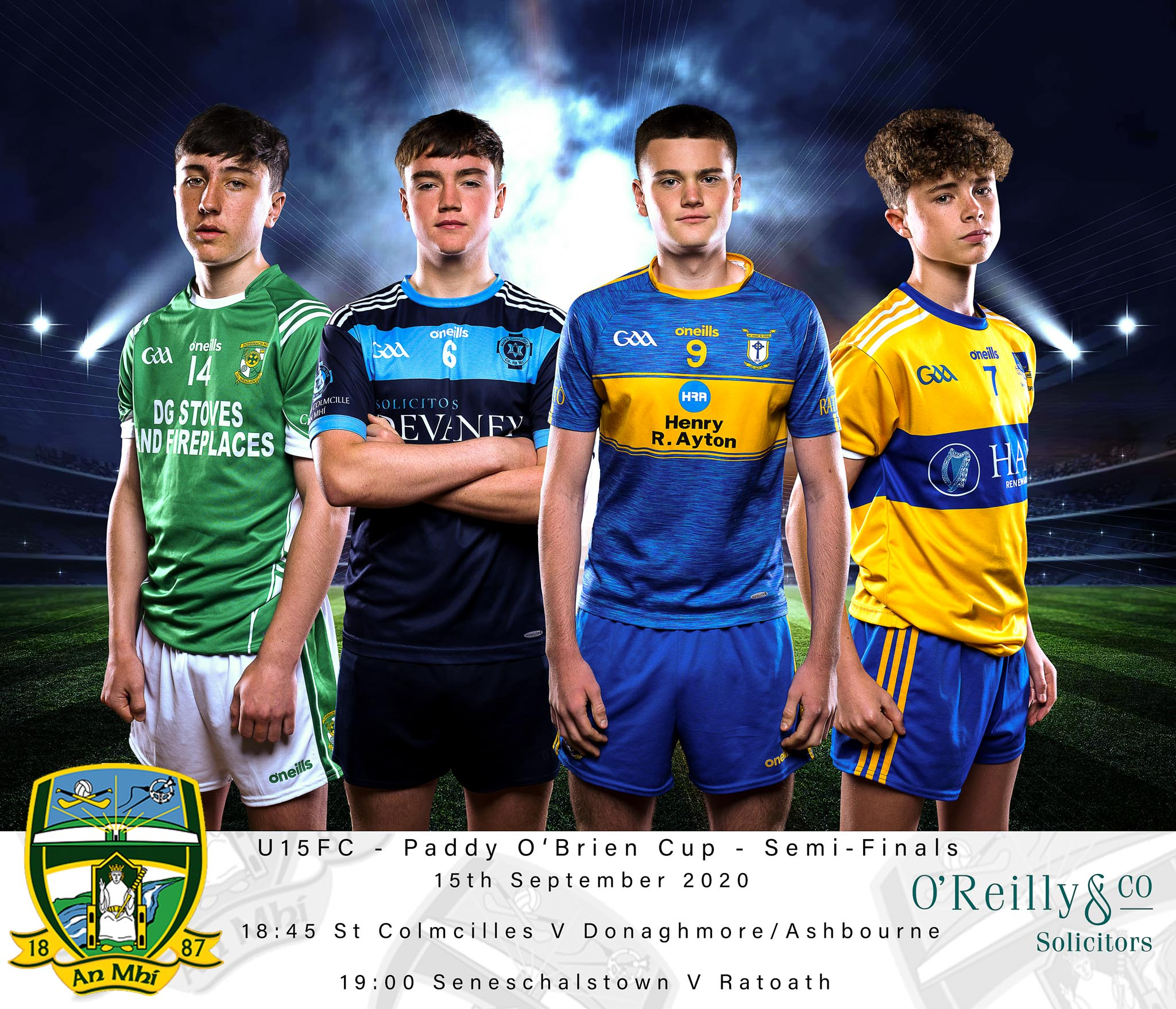 O'Reilly & Co. Solicitors U-15 Football Championship – Paddy O'Brien Cup Division 1 semi-finals