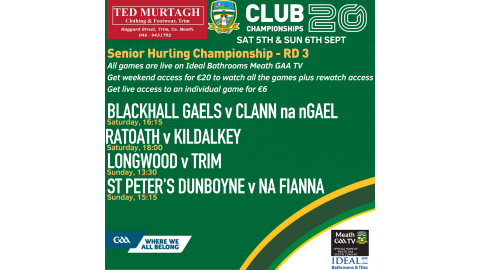 WATCH RD 3 SENIOR HURLING LIVE