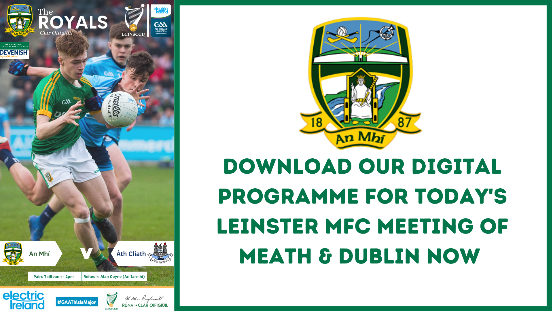 Get your Leinster MFC Championship programme now