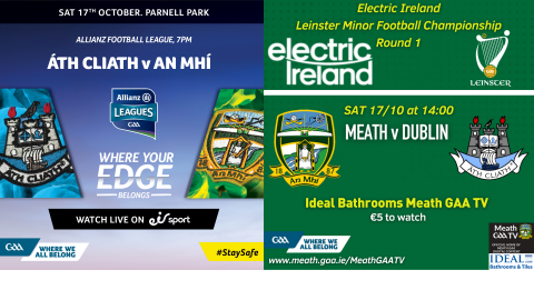 Oct 17th – Meath Football is Back!!!
