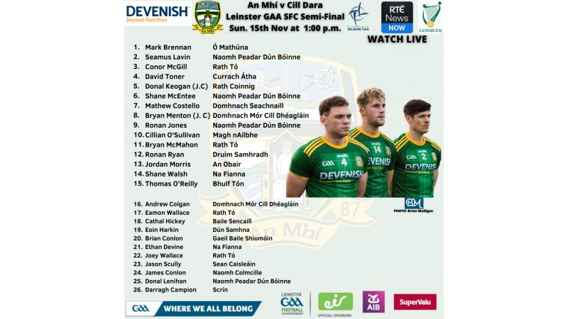 WATCH LIVE – Meath v Kildare – Leinster SFC Semi-Final