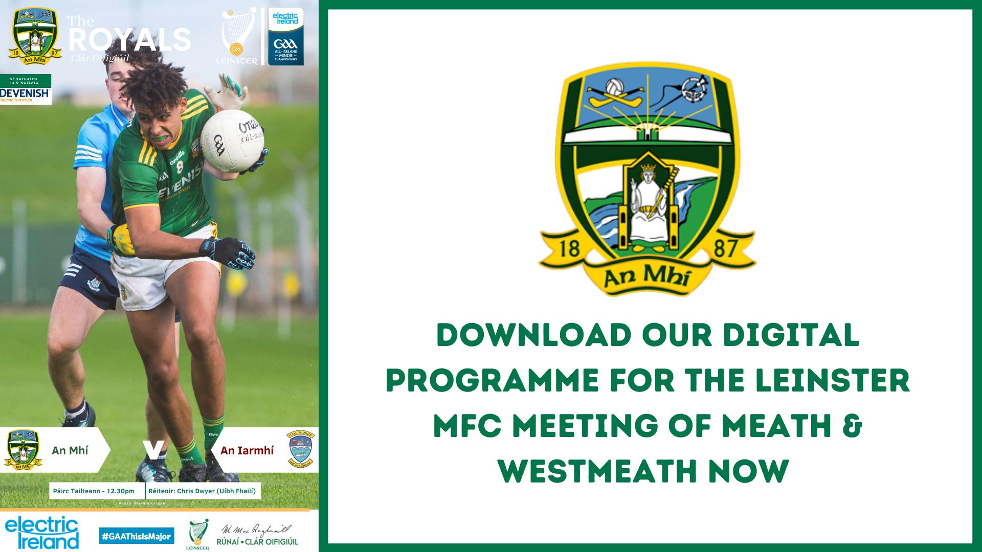 Get you Leinster MFC digital programme now