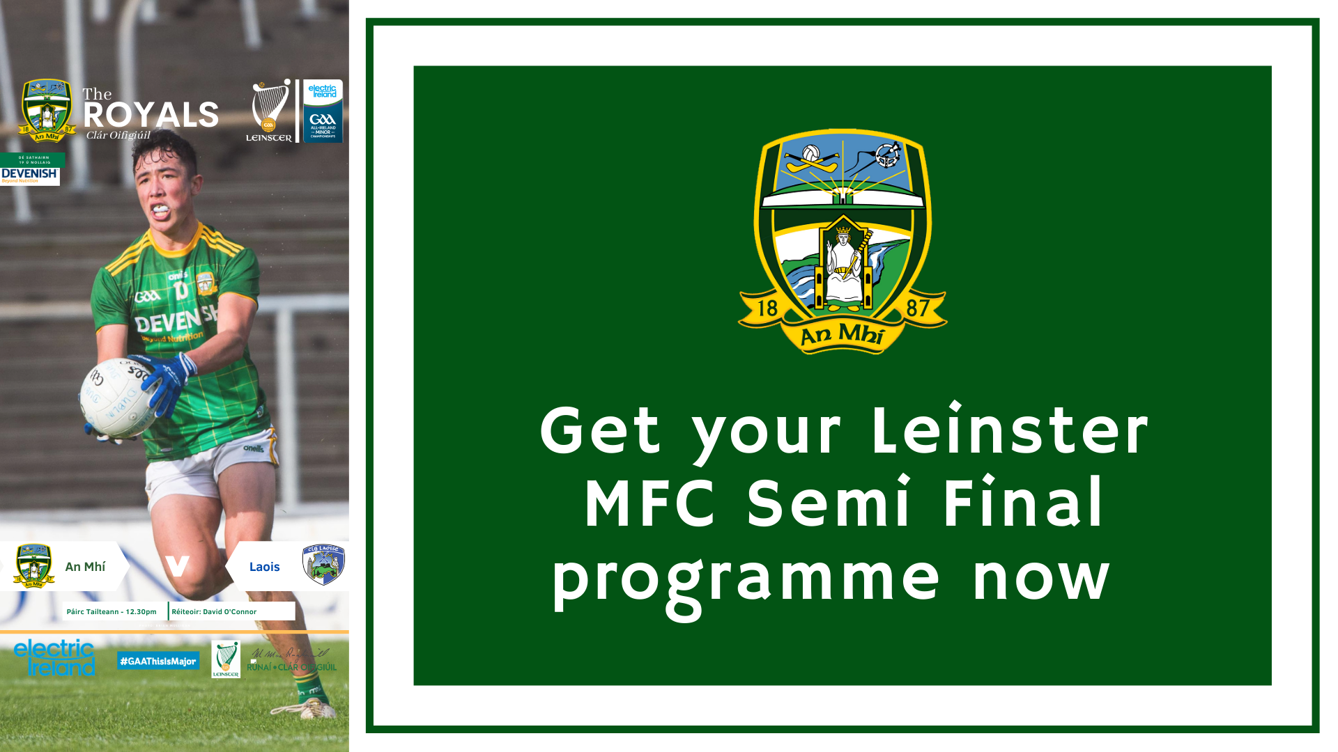 Leinster MFC semi final programme now available