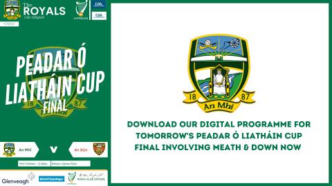 Get your Peadar Ó Liatháin Cup Final Programme now