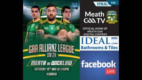 WATCH LIVE – Wicklow v Meath – Allianz Hurling League Roinn 2A Rd. 2