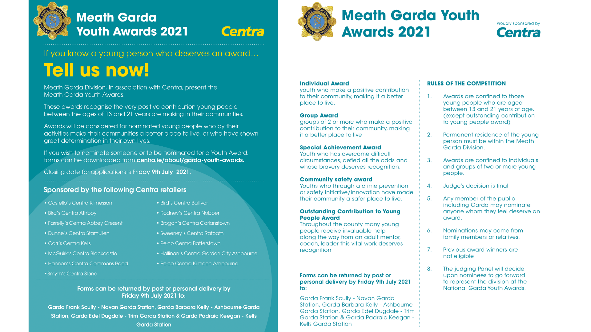2021 Meath Garda Youth Awards – Nominations are open!