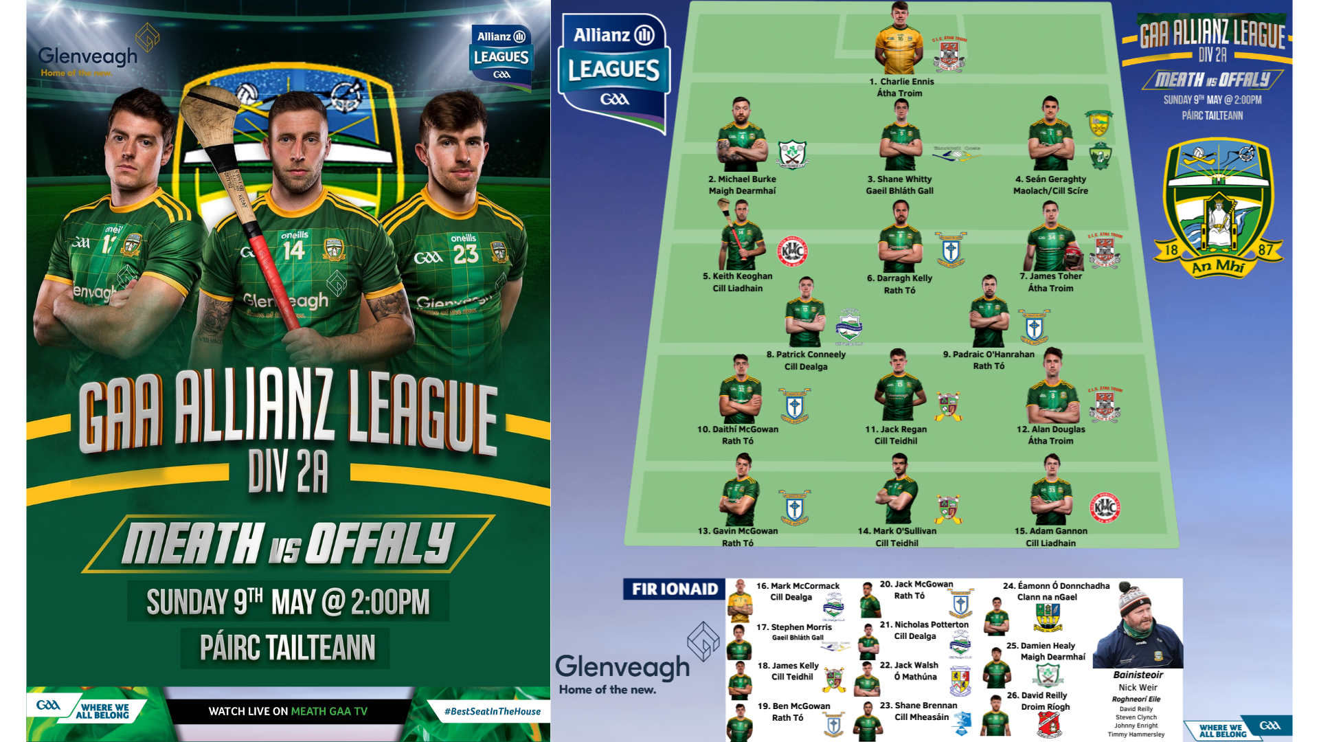 WATCH LIVE – Meath v Offaly – Allianz Hurling League Rd 1
