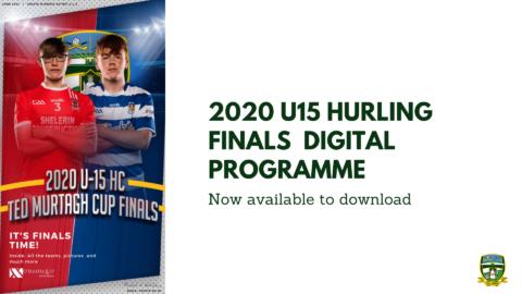 Download your U15 Hurling Finals Programme now
