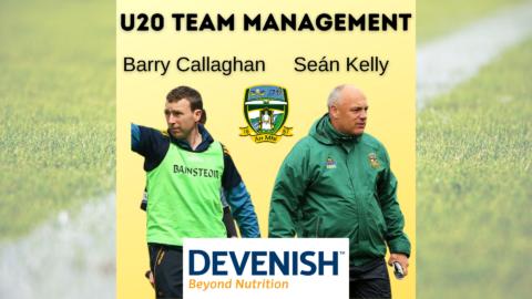Barry Callaghan & Seán Kelly to lead Meath U-20 Footballers