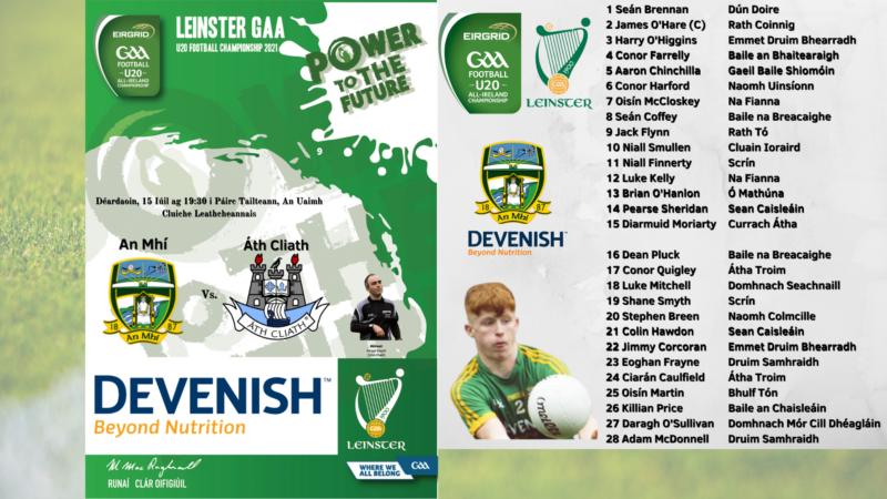 WATCH LIVE – Leinster U20FC Semi-Final – Meath v Dublin