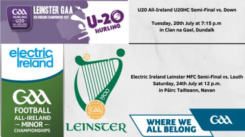 Tickets – All-Ireland U20HC / Leinster MFC