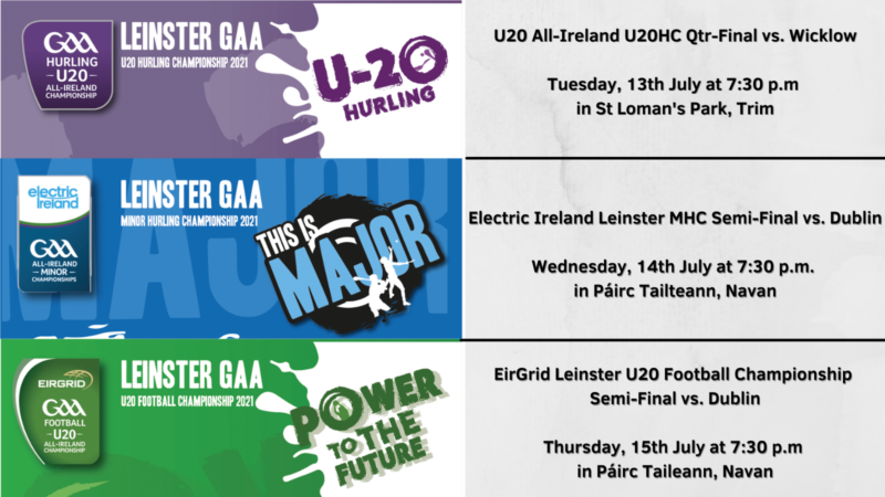 Tickets – All-Ireland U20HC / Leinster MHC & U20FC