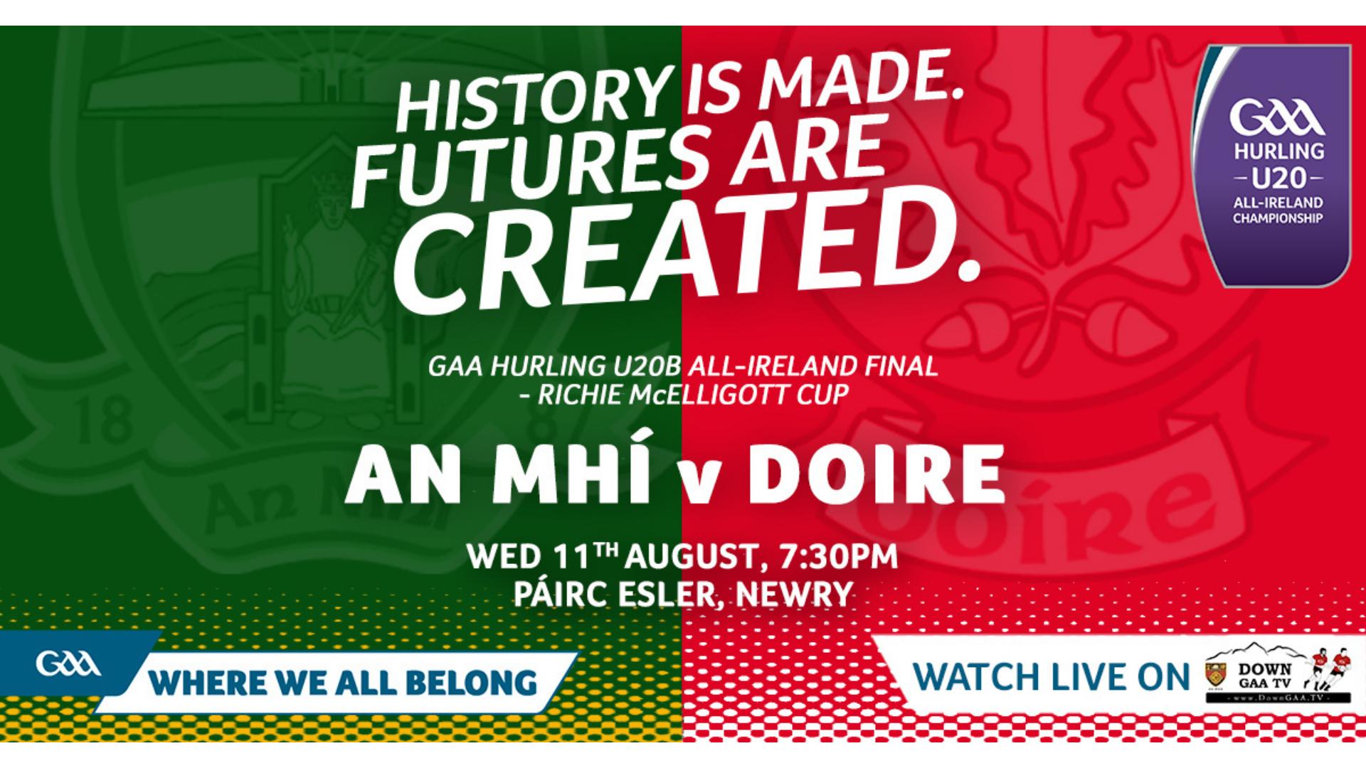 GAA Hurling All-Ireland U20B Championship Final – Richie McElligott Cup