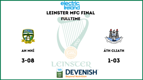 Meath Minors win Leinster!!!