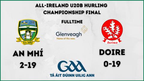 Meath win the U20B All-Ireland Hurling Championship