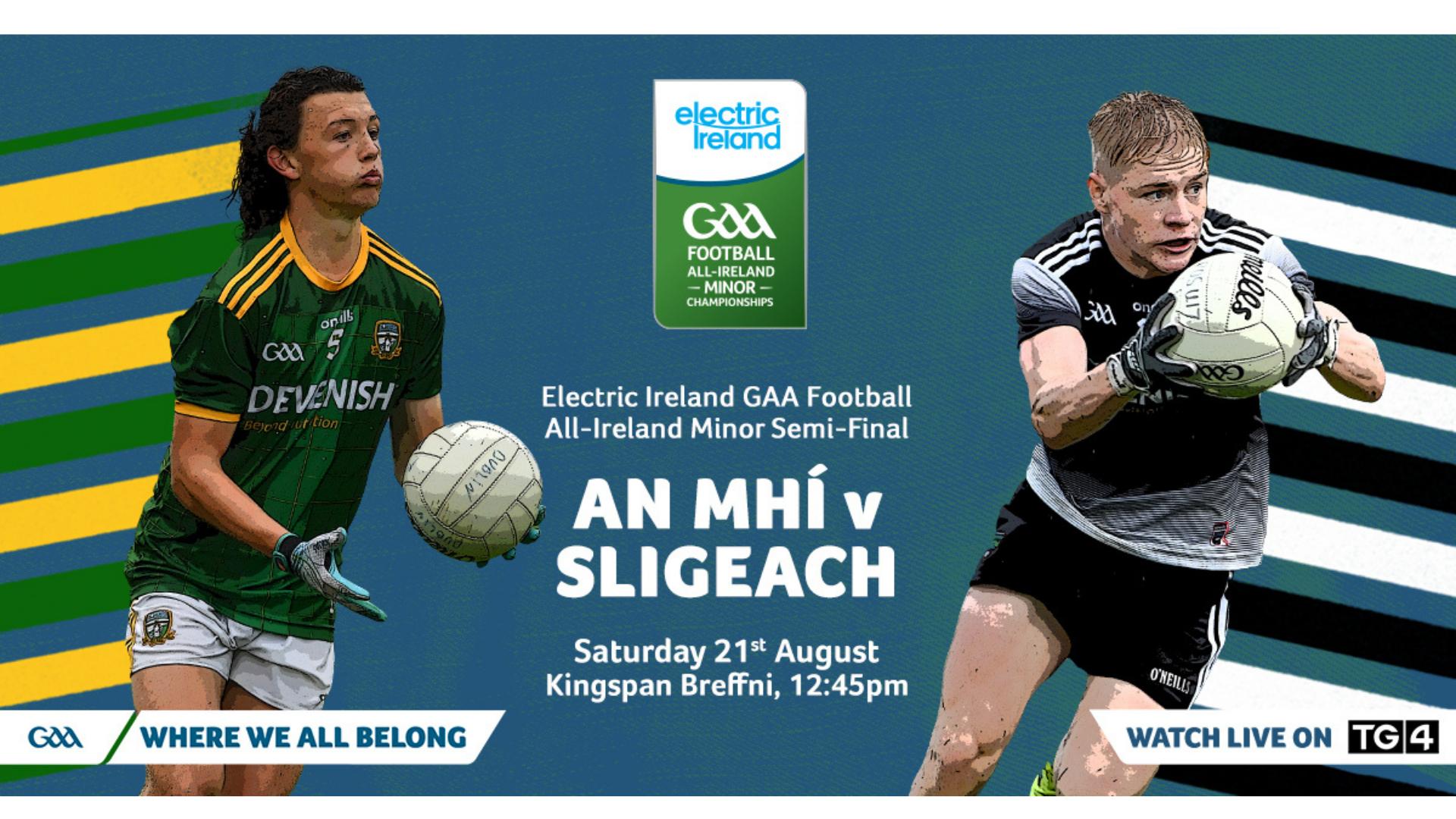 Tickets – Electric Ireland GAA Football All-Ireland Minor Semi-Final