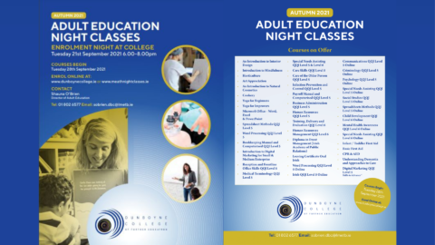 Part-time courses on offer at Dunboyne College