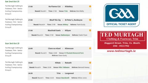 Tickets – Senior Hurling Championship Rd. 4